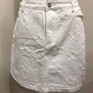 White Star patterned skirt